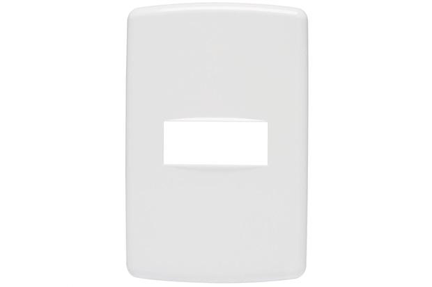 Placa 4x2 para 1 Módulo Duale Up Branco - Iriel
