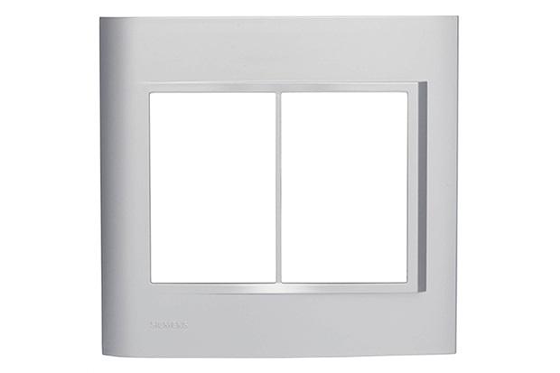 Placa 4x2 para 6 Módulos Alumínio Vivace - Siemens
