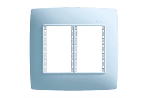 Placa 4x4 6 Postos com Suporte Azul S30 - Simon