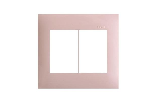 Placa  4x4 6 Postos Horizontal  Rosa  - Simon