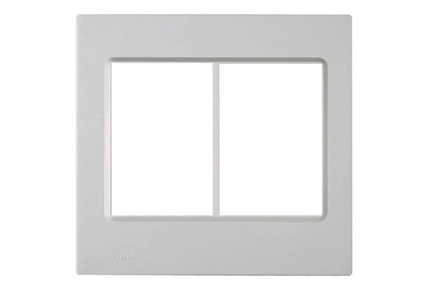 Placa 4x4 para 6 Módulos Delta Branco  - Siemens