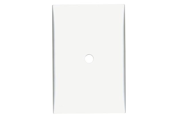 Placa Cega com Suporte 4x2 com Furo Imperia Branca - Iriel