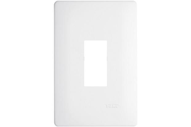 Placa para 1 Módulo Vertical 4x2 Habitat Branca - Fame