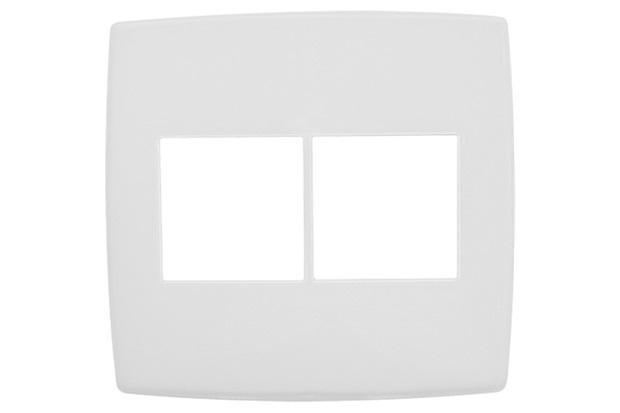 Placa para 2 + 2 Postos 4x4 Pialplus Branca - Pial Legrand