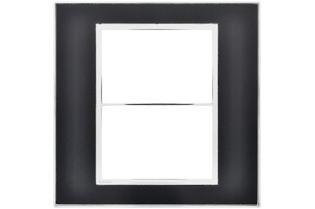 Placa para 3 Postos Separados Arteor Mirror Black 4x4 - Pial Legrand