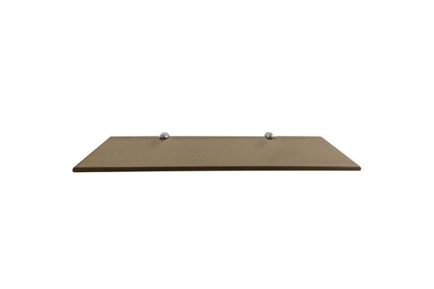 Prateleira em Vidro 40x15cm Bronze - Rack System