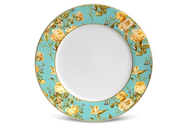 Prato de Sobremesa Flat Elegance Branco 20,5cm  - Porto Brasil Cerâmica