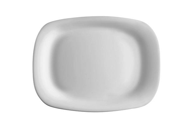 Prato Retangular Parma Branco 33cm - Globimport