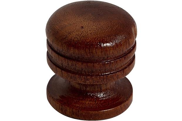 Puxador em Madeira Cartola Mogno Pequeno - Fixtil