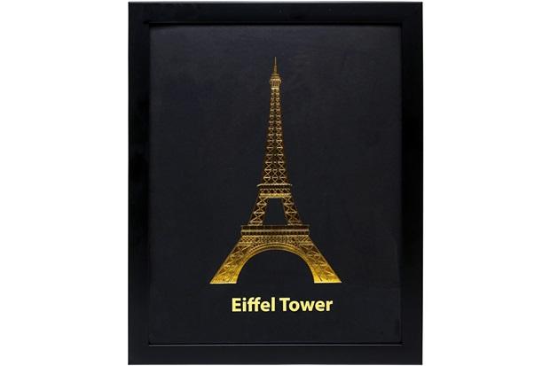 Quadro Torre Eiffel 28 X 35.5 Cm Dourado E Preto - Importado