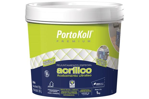 Rejunte Acrílico Premium Palha 1kg - Portokoll
