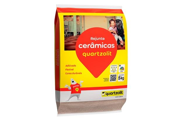 Rejunte Aditivado Flexível Caramelo 5kg - Quartzolit