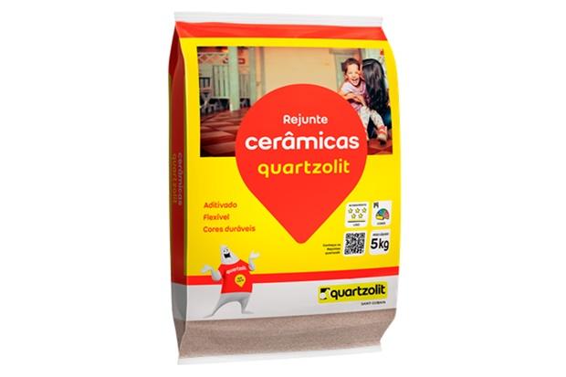 Rejunte Aditivado Flexível Palha 1kg - Quartzolit