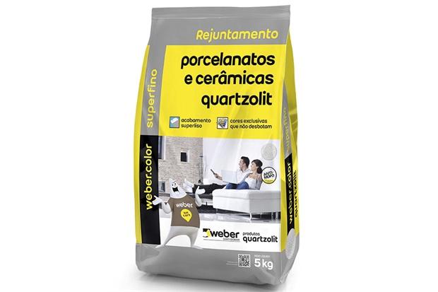 Rejunte para Porcelanatos E Cerâmicas Mogno 5kg - Quartzolit