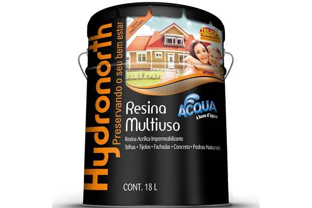 Resina Acrílica Impermeabilizante Multiuso Acqua Cerâmica Telha 18 Litros - Hydronorth