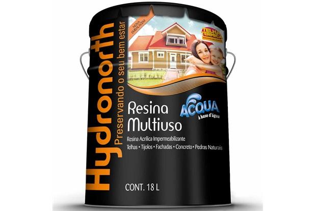 Resina Acrílica Impermeabilizante Multiuso Acqua Vermelho Óxido 18 Litros - Hydronorth