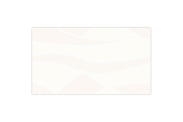 Revestimento Esmaltado Brilhante Borda Bold Traços Branco 32x57cm - Idealle