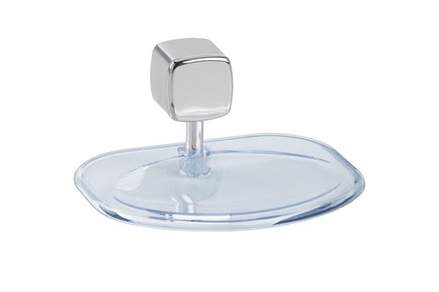 Saboneteira de Parede Eco Transparente E Cromada - Expambox