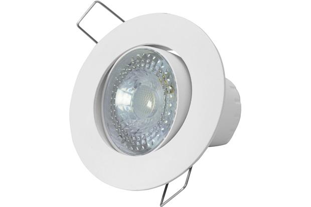 spot led de embutir redondo sp 25 5w autovolt 3000k luz amarela branco taschibra c c. Black Bedroom Furniture Sets. Home Design Ideas