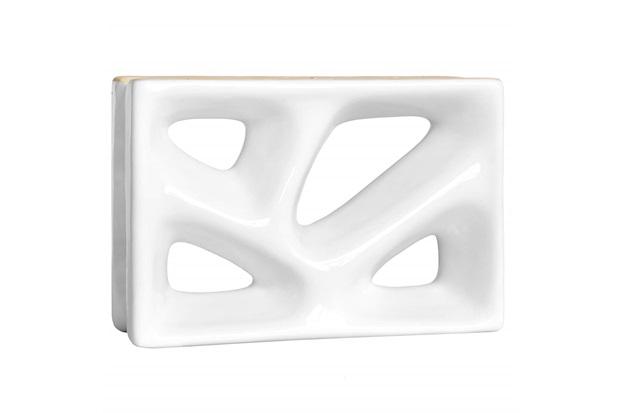 Tijolo Vazado 23x16x8 Rama Esmaltado Branco - Cerâmica Martins