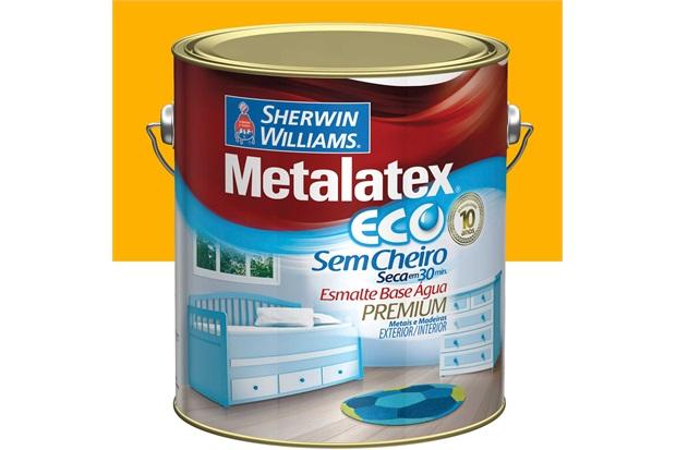 Tinta Eco Esmalte Alto Brilho Amarelo Ouro 3,6 Litros - Sherwin Williams