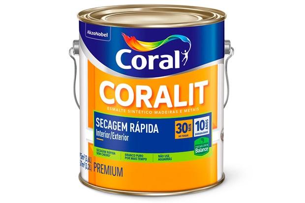 Tinta Esmalte Coralit Zero Brilhante Branco 3,6 Litros - Coral