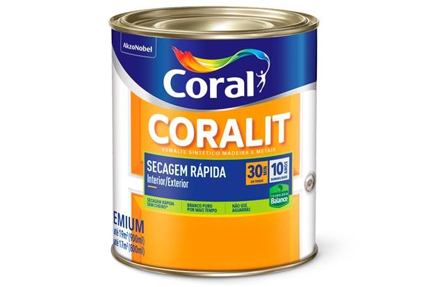 Tinta Esmalte Coralit Zero Brilhante Branco 900ml - Coral