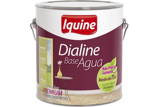 Tinta Esmalte Dialine Base Água Premium Gelo 3,6 Litros - Iquine