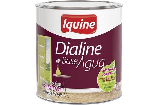 Tinta Esmalte Dialine Base Água Premium Gelo 900ml - Iquine