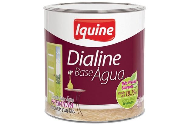 Tinta Esmalte Premium Dialine Seca Rápido Platina 3,6 Litros - Iquine