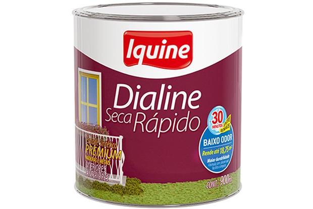 Tinta Esmalte Premium Dialine Seca Rápido Platina 900ml - Iquine