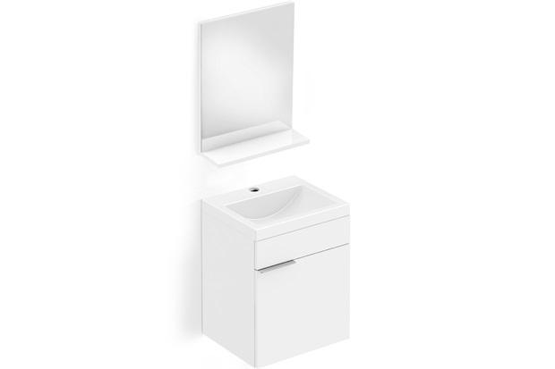 Toucador E Espelheira em Mdp Like 41x34cm com 1 Porta Branco - Celite