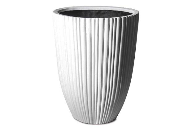Vaso em Resina Acrílica Cone 35x27cm Branco - Finottato