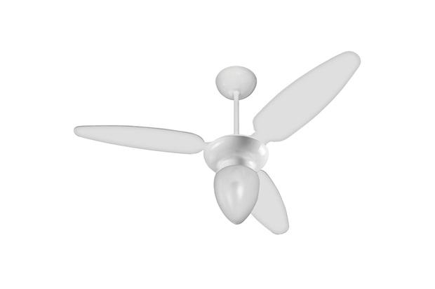 Ventilador de Teto com Luminária 130w 110v Ibiza com 3 Pás Branco - Casanova