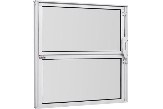 Vitrô Basculante de Alumínio Vidro Mini Boreal Branco Pop 40x60cm - Ebel