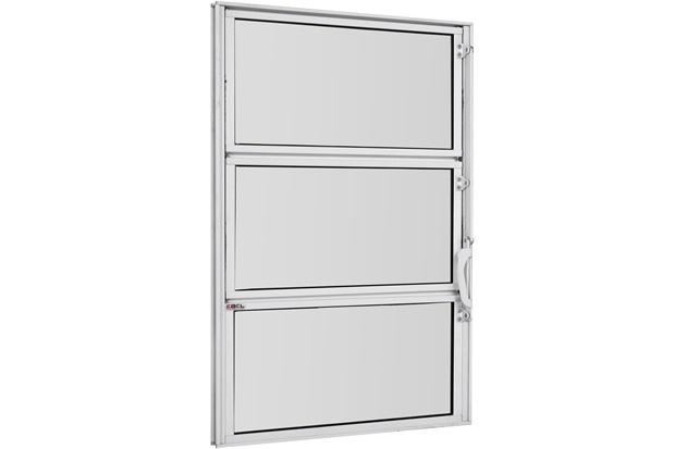 Vitrô Basculante de Alumínio Vidro Mini Boreal Branco Pop 60x60cm - Ebel